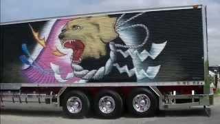 getlinkyoutube.com-ZERO CORPORATION・椎名急送コラボ入場 茨城アートトラック連盟2015  SOLAR IMPACT(ソーラーインパクト)
