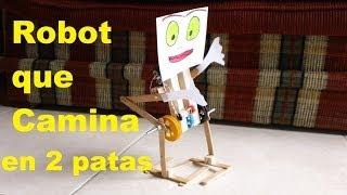 getlinkyoutube.com-✅ Robot Caminante en 2 patas ❗Fácil de hacer❗ walking robot