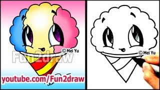 getlinkyoutube.com-Summer Snacks - How to Draw a Snow Cone