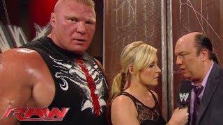 getlinkyoutube.com-Brock Lesnar is unimpressed with CM Punk: Raw, August 5, 2013
