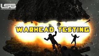 getlinkyoutube.com-Space Engineers - Warhead Testing & Splitting an Asteroid Massive Explosion Chain Reaction Part 24