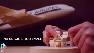 getlinkyoutube.com-Keren Banget Membuat Miniatur Pesawat dari Kertas