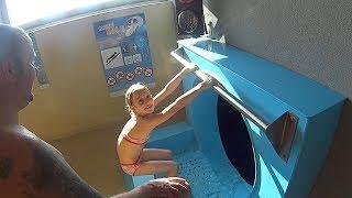 getlinkyoutube.com-Magic Hole Water Slide at Aqualand Moravia