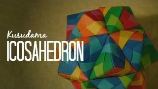 getlinkyoutube.com-Origami Ball / Kusudama icosahedron Tomoko Fuse