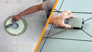 getlinkyoutube.com-Układanie płytek w strefie prysznicowej z odwodnieniem punktowym Schlüter®-KERDI-DRAIN: część 2