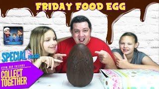 getlinkyoutube.com-Giant Food Surprise Egg - Friday Food Egg Surprise from Australia