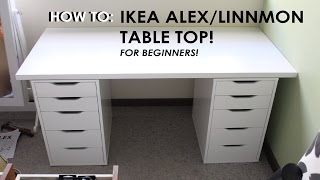 getlinkyoutube.com-HOW TO SET UP IKEA ALEX/LINNMON DRAWERS - For Beginners! Throwback New Makeup Storage Vlog!