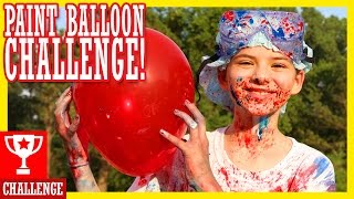 getlinkyoutube.com-PAINT BALLOON CHALLENGE!  HAPPY 4th OF JULY!!  |  KITTIESMAMA