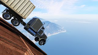 getlinkyoutube.com-DODGE THE FLYING TRUCKS! (GTA 5 Funny Moments)