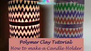 getlinkyoutube.com-Polymer Clay Tutorial - How to Make a Candle Holder using lcdisk9 - Lesson #17