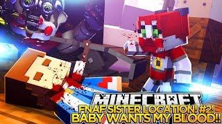 getlinkyoutube.com-BABY WANTS LITTLE DONNY'S BLOOD, FNAF SISTER LOCATION #2 - Minecraft Custom Roleplay.