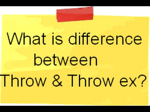 c# interview questions and answers :- What is the difference between Throw and Throw ex ?