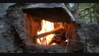 getlinkyoutube.com-Bushcraft Group fireplace challenge