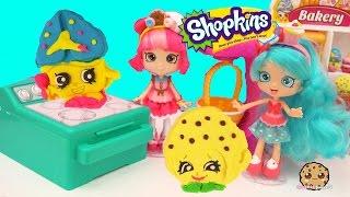 getlinkyoutube.com-Jessicake & Donatina Shoppies Make Playdoh Shopkins Cookies with Cookie Cutters - Play Video