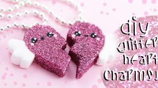 getlinkyoutube.com-♡ DIY GLITTER BFF Heart Charms!! - In Polymer Clay ♡ | Kawaii Friday