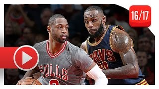 getlinkyoutube.com-Dwyane Wade vs LeBron James SICK Duel Highlights (2016.12.02) Bulls vs Cavaliers - BROTHERHOOD!