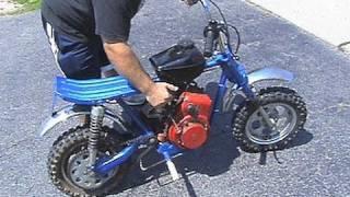 getlinkyoutube.com-Riding 1971 RUPP HUSTLER Mini bike & minor pull cord handle repair