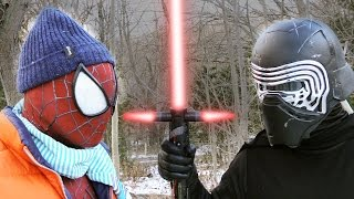 getlinkyoutube.com-SPIDER-MAN vs KYLO REN