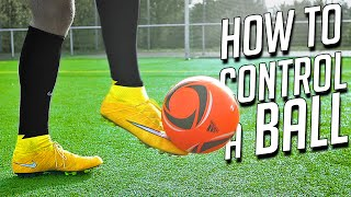 getlinkyoutube.com-How to Control the Ball After a Pass/Cross - Football Tutorial by freekickerz