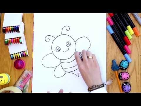 سلسلة رسمة ومعلومة - ح1: كيف أرسم نحلة