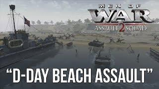 getlinkyoutube.com-Men of War: Assault Squad 2 - D-Day Beach Assault