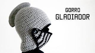 getlinkyoutube.com-GORRO DE GLADIADOR a crochet PARTE 2 de 2 | tutorial paso a paso