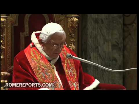 Pope addresses Roman Curia  explains role of the family and rebates gender ideology