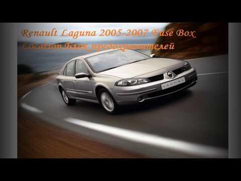 Renault Laguna Fuse Box Location Блок предохранителей Расположение
