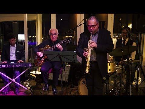 Jazz in Tun/ Organic Trio & Pierre Vaiana : Palazzo Adriano - Isfahan Live à Dar El Marsa (Organic Trio: Fawzi Chekili, g./Omat El Ouaer, k./Malek Lakhoua, d./Pierre Vaiana, s.)