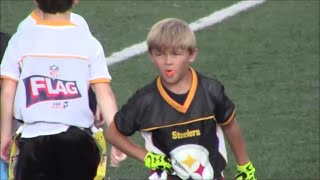 getlinkyoutube.com-Trevin Russell:  7 Year Old Flag Football Beast (2016)