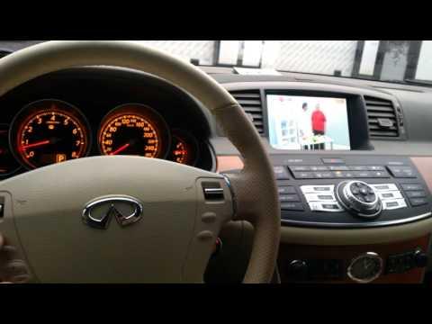Infiniti M/Nissan Fuga (2005-2010)-установка оборудования 2015г,TV,DVD, видео с телефона.