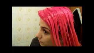 Pintando os cabelos com anilina