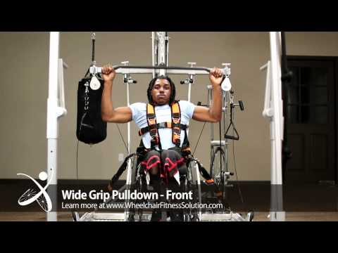 Wheelchair Fitness Solution | Exercise: Wide Grip Pulldown - Front (30 of 40)