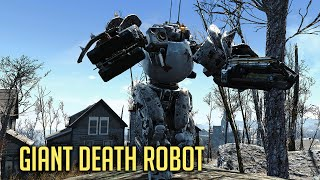 getlinkyoutube.com-GIANT DEATH ROBOT! Fallout 4 - New Automatron DLC