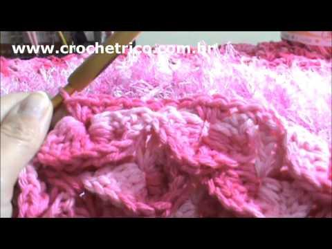 Crochê - Tapete Barroco em Ponto Escama - Parte 05/05