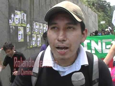 Marcha hacia Cajamarca del Congreso Nacional de Tierras, Territorios y Soberanías.
