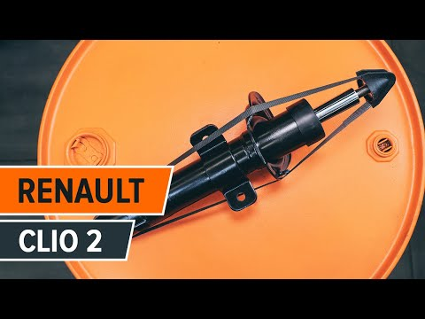 How to replacefront shock absorbersonRE NAULT CLIO 2 TUTORIAL   AUTODOC
