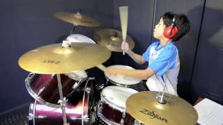 getlinkyoutube.com-Rude - MAGIC! - Drum Cover By 11 Year Old Joh Kotoda