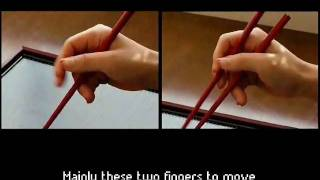 getlinkyoutube.com-The Answer Book: Guide to mastering the chopsticks within 5 minutes (How to hold chopsticks)