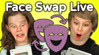getlinkyoutube.com-KIDS REACT TO FACE SWAP CHALLENGE