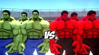 getlinkyoutube.com-GREEN HULK ARMY VS RED HULK ARMY - EPIC BATTLE THE HULK
