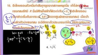 สอนศาสตร์ : PAT 2 ความถนัดทางวิทยาศาสตร์ : 03 ฟิสิกส์ : ไฟฟ้าสถิต