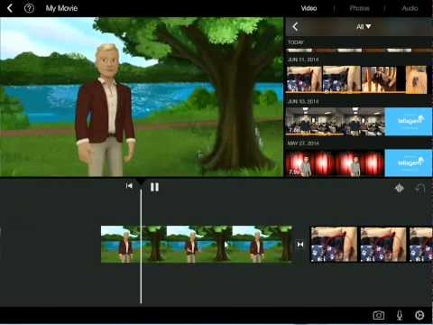 How to Combine Tellagami Clips in iMovie