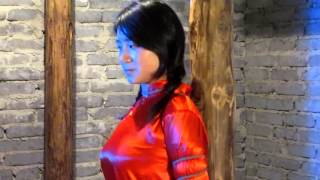 getlinkyoutube.com-陈沫红衣捆绑 Chen Mo in red dress is tied up