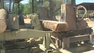 getlinkyoutube.com-Hurdle Machine Works Cross Tie Sawmill (part 2) - Rose's Sawmill - Mill1
