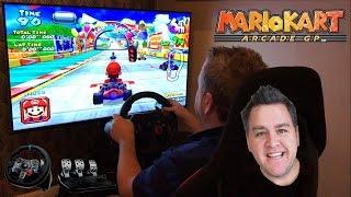 Let's Race - Triforce Mario Kart Arcade GP 2 - Mario Cup - Dolphin - Logitech G29 Wheel & Pedals