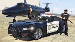 getlinkyoutube.com-GTA 5 Mods - PLAY AS A COP MOD!! GTA 5 Police Mustang GT Patrol Mod Gameplay! (GTA 5 Mods Gameplay)