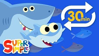 Baby Shark (Extended Mix - 30 Mins!) | Kids Songs | Super Simple Songs width=