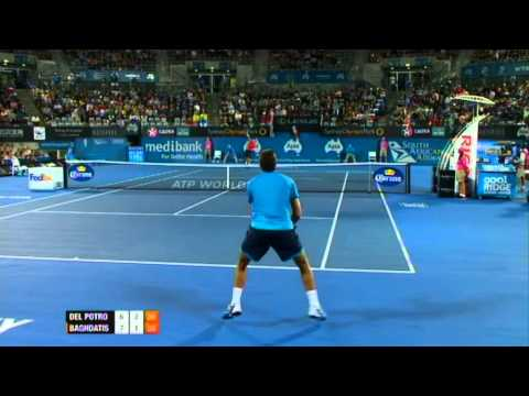J. M. Del Potro v M. Baghdatis Highlights Men's Singles Quarter Final: Sydney International 2012