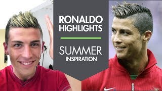 getlinkyoutube.com-Cristiano Ronaldo new summer haircut with Highlights 2013 ★ Slikhaar Studio